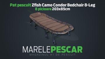 Pat pescuit Zfish Camo Condor Bedchair 8-Leg