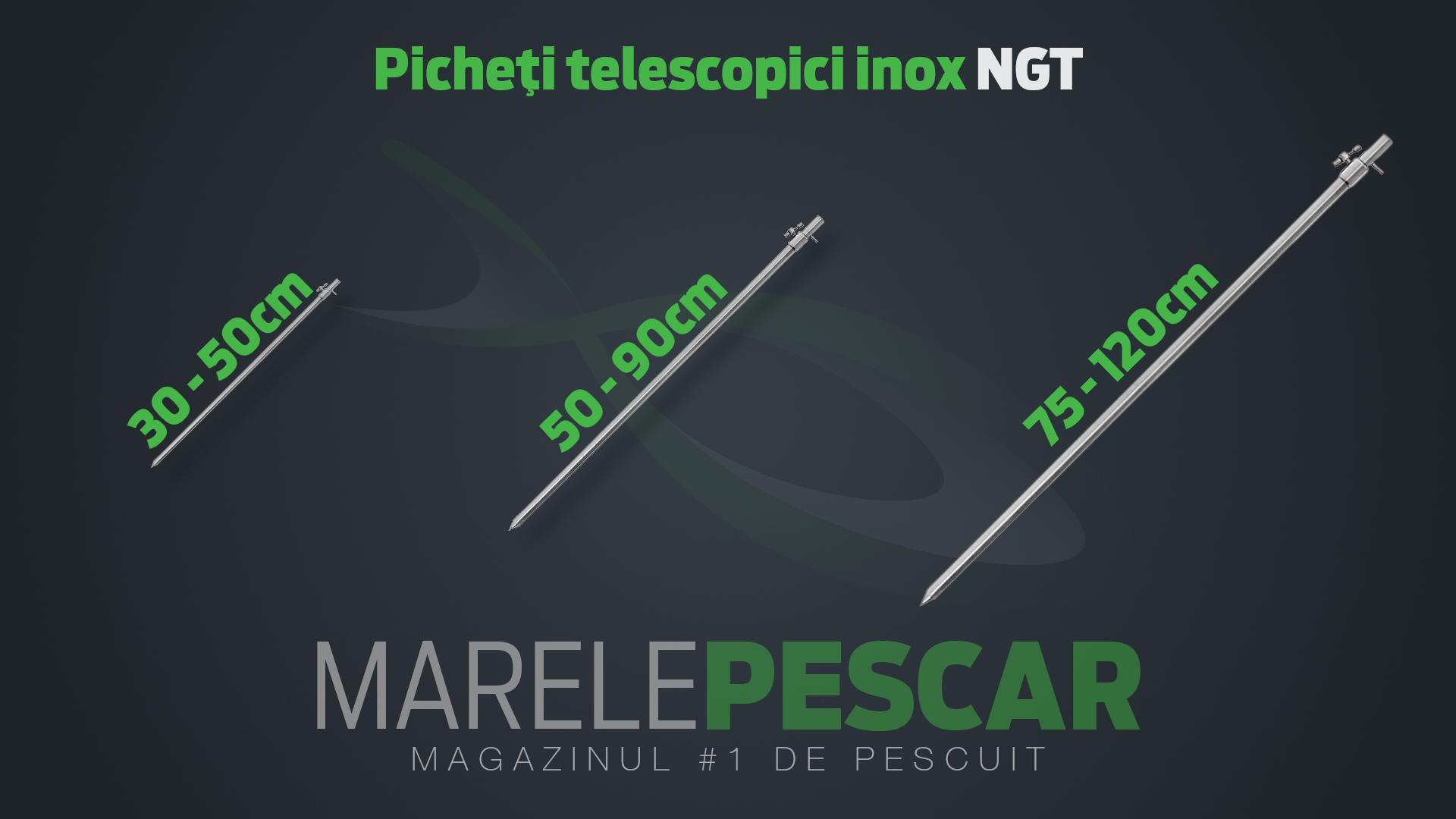 Picheți telescopici inox NGT