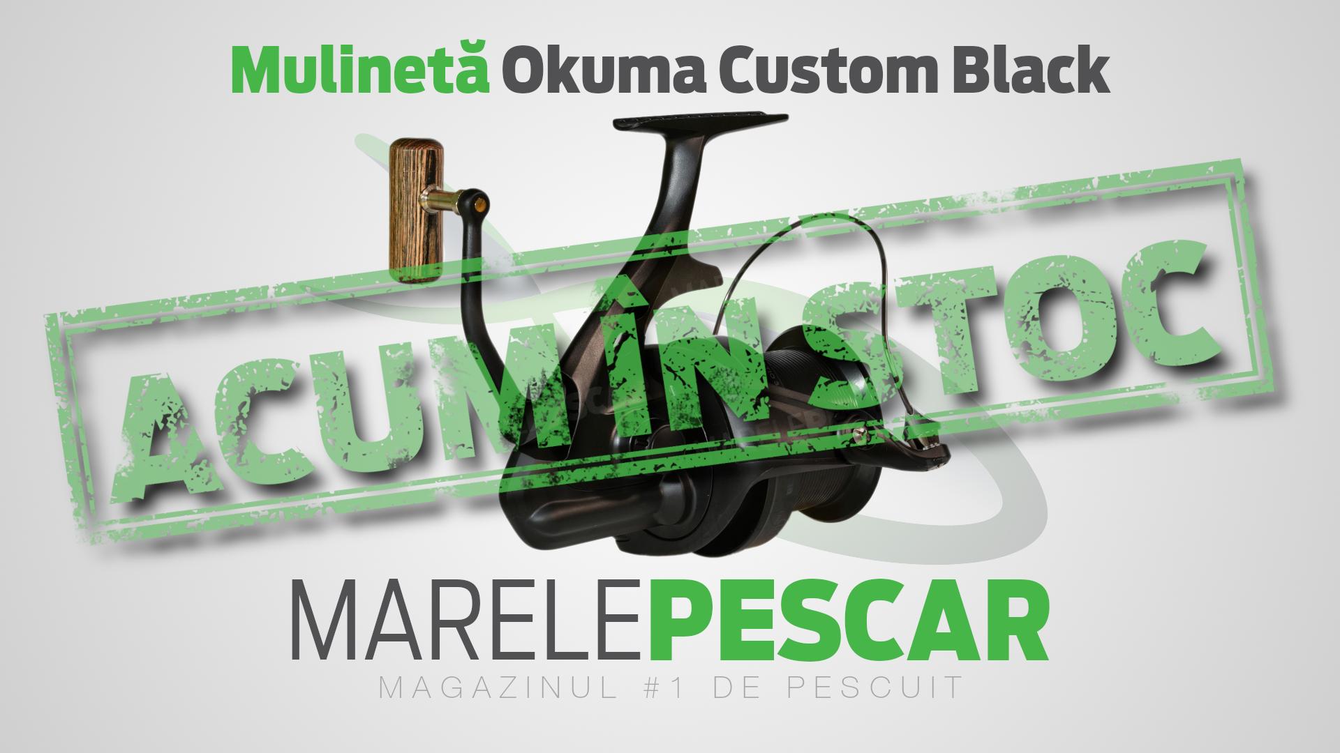Mulinetă Okuma Custom Black (acum în stoc)