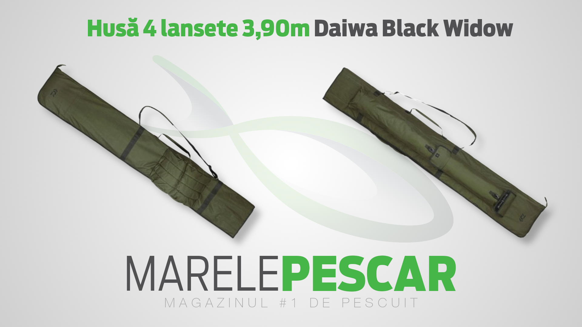 Husă 4 lansete 3,90m Daiwa Black Widow