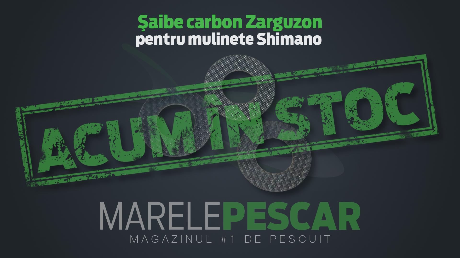 Set șaibe carbon Zarguzon pentru mulinete Shimano (acum în stoc)