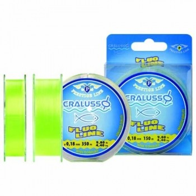 Fir Monofilament Cralusso Prestige Fluo Galben 350m