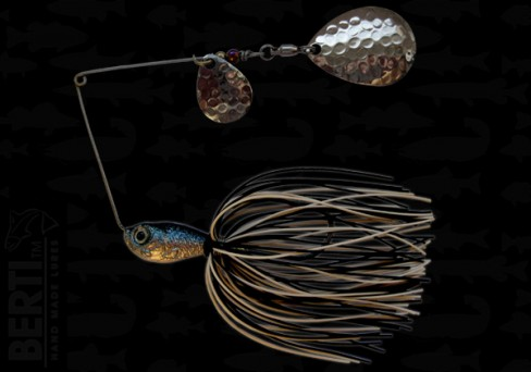 Bertilure Spinnerbait Colorado Nr.2 Colorado Deep Cup 14g Skirt Siliconic Alb - Negru