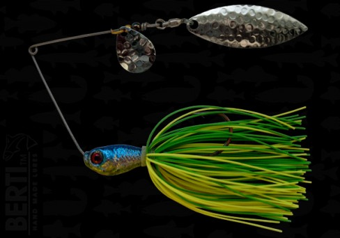 Bertilure Spinnerbait Colorado Nr.2 Salcie Nr.2 14g Skirt Siliconic Lime - Chartreuse