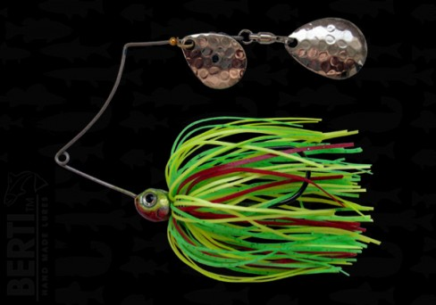 Bertilure Spinnerbait Shallow Killer Colorado-Colorado Deep Cup 7g Skirt Siliconic Fire Tiger
