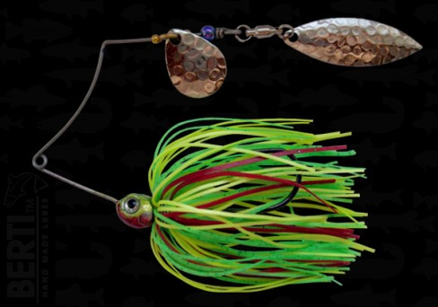 Bertilure Spinnerbait Shallow Killer Colorado-Salcie 7g Skirt Siliconic Fire Tiger