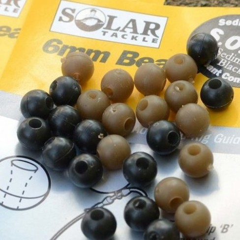 Bilute Antisoc Solar Rubber Beads, 6mm, 20buc/cutie