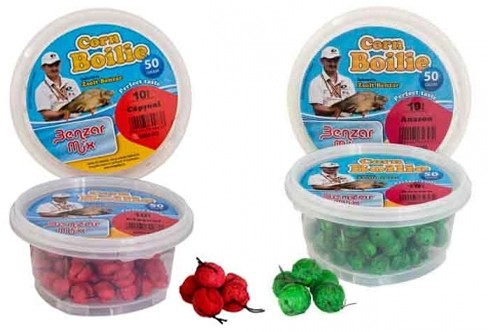 Boilies cu Fir de Par Benzar Mix Corn, 14mm, 50g