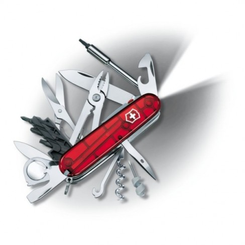 Briceag Victorinox Cybertool Lite Rosu Transparent, 9.1cm
