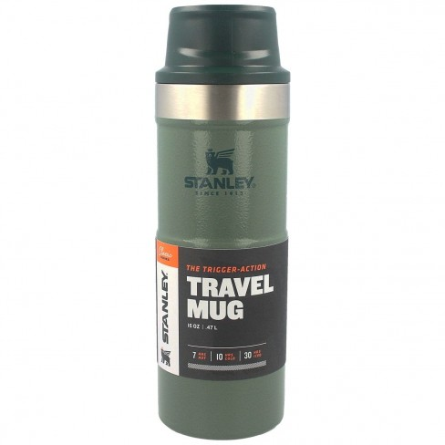 Cana Termoizolanta Stanley Trigger-Action Travel Mug Hammertone Green, 0.47 Litri