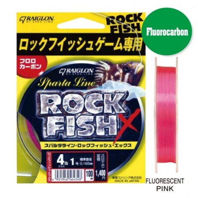 Fir Fluorocarbon Raiglon Sparta Line Rockfish X, 100m