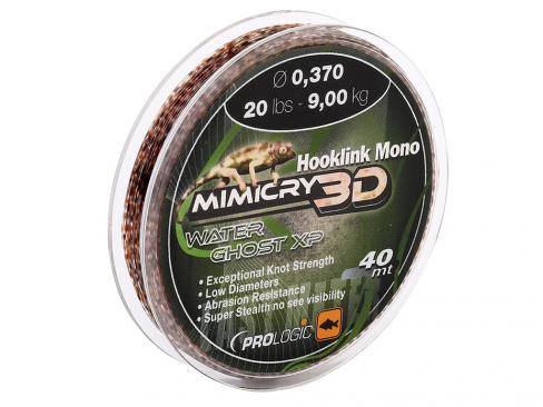 Fir Inaintas Monofilament Prologic Mimicry 3D Water Ghost XP Hooklink Mono, 30m - 40m
