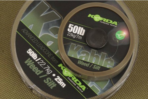 Fir Leadcore Korda Kable, Weed, 50lbs, 25m
