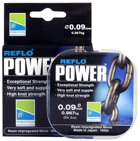 Fir Monofilament Preston Reflo Power, 100m