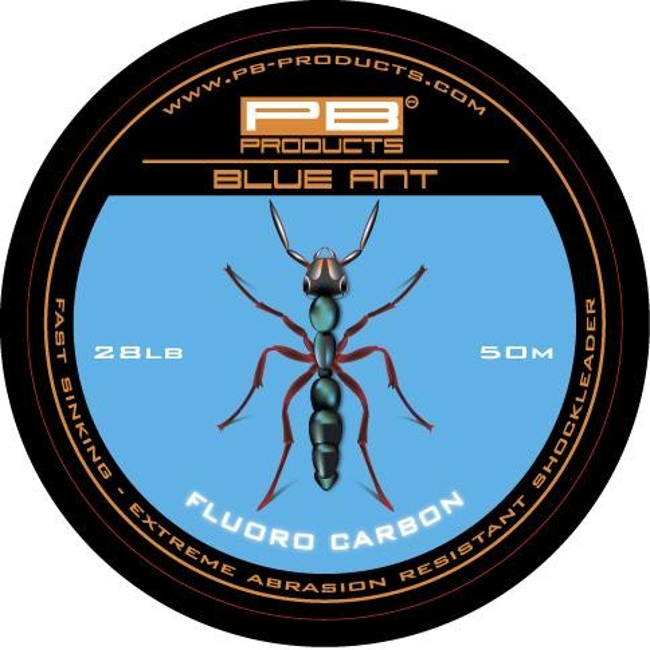 Fir Fluorocarbon PB Blue Anti Shockleader, 28lbs, 50m