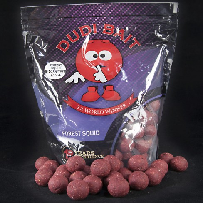 Boilies Solubil Dudi Bait Forest Squid, Squid&Fructe de Padure, 1kg