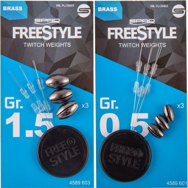 Kit lesturi interschimbabile pentru Naluci Spro Freestyle, 0.5gr, 3buc/plic
