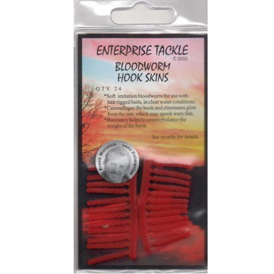 Larve de Libelule Artificiale Enteprise Tackle Bloodworm Hook Skins