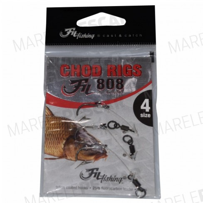 Montura Filfishing Chod Rigs Fil 808, 25lbs, 2buc/plic