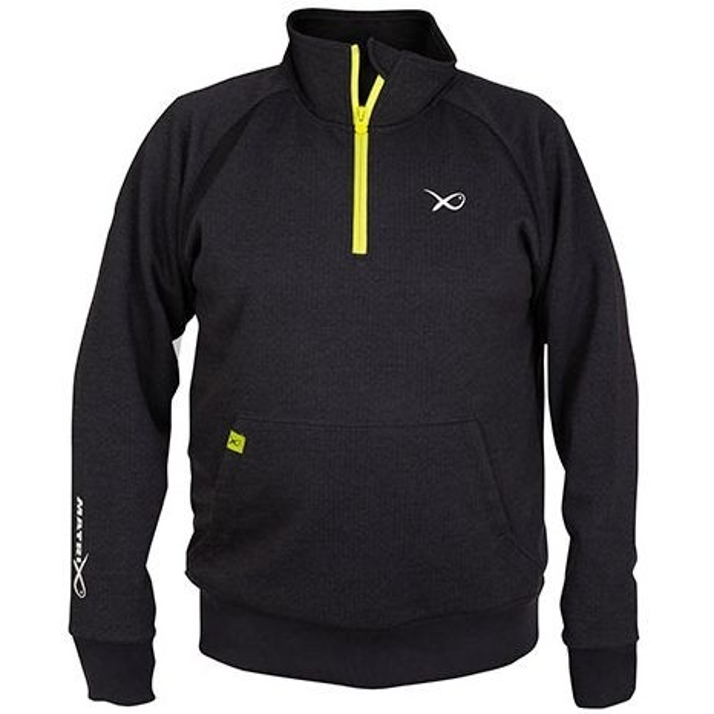 Pulover Matrix Minimal Black Marl 14 Zip Sweater