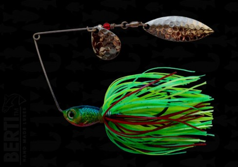 Bertilure Spinnerbait Colorado nr.2 Salcie nr.2 11gr Skirt Siliconic Fire Tiger