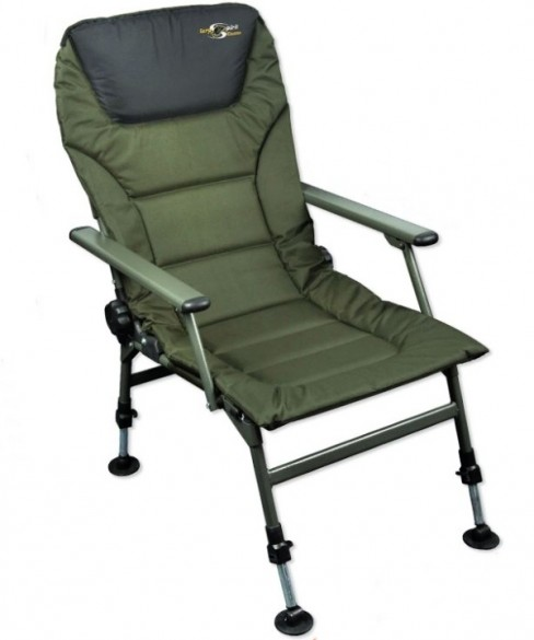 Scaun Carp Spirit Padded Level Chair, 85x51x46cm