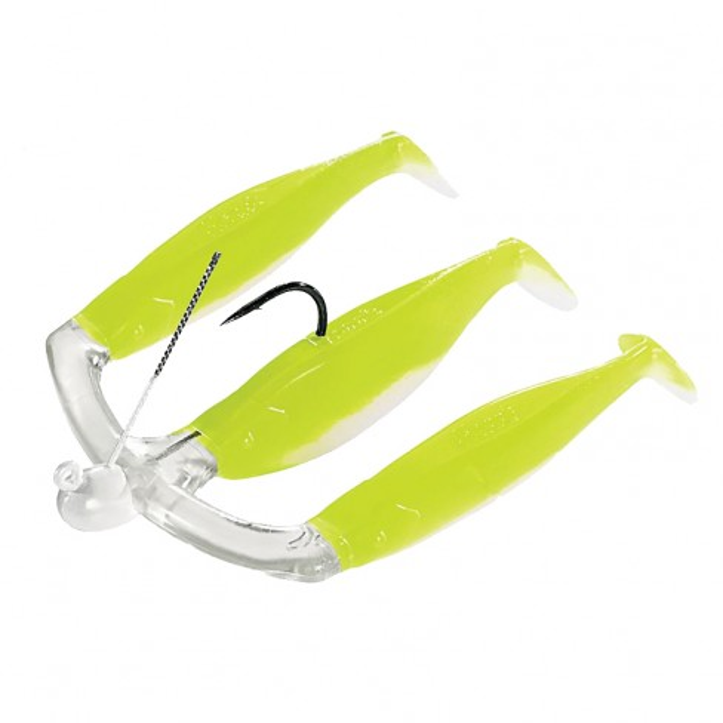 Shad Mann's Three-For-All Pearl-Chartreuse 10cm 3buc/plic