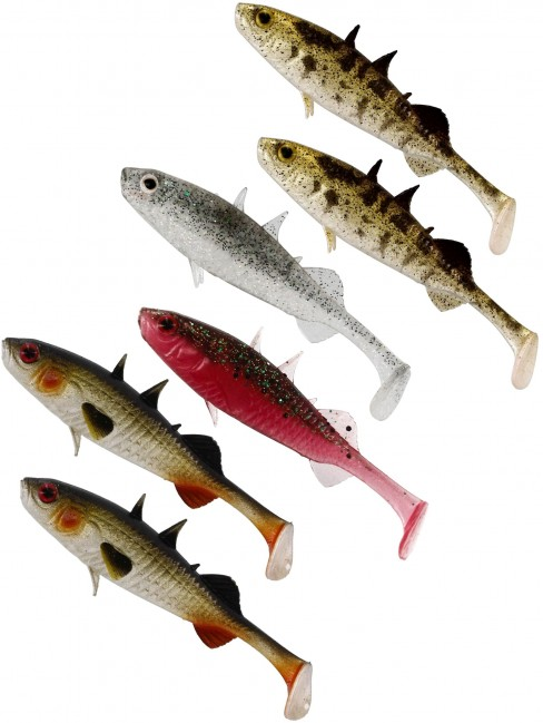 Shad Westin Stanley the Stickleback Shadtail, Culoare Clear Water Mix, 7.5cm, 4g, 6bucplic
