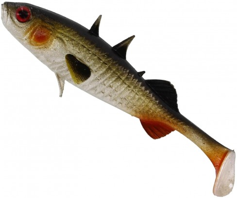 Shad Westin Stanley the Stickleback Shadtail, Culoare Lively Roach, 5.5cm, 1.5g, 6bucplic