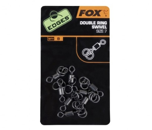 Vartej Fox Edges Double Ring Swivel Nr.7, 8bucplic