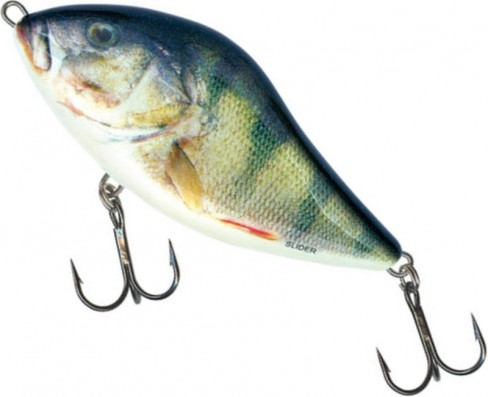 Vobler Salmo Slider Floating SD6F, Real Perch, 6cm, 10.5g