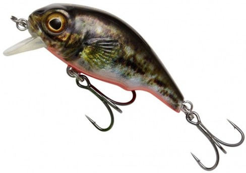 Vobler Savage Gear 3D Goby Crank, Culoare UV Red and Black, 4cm, 3g