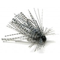 Skirt-Jig Rapture Tungsten Finesse Rub Jig, Culoare White/Blue-Pearl Black, 1.7g