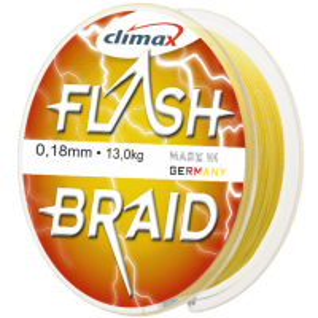 Fir Textil Climax Flash Braid, Fluo Yellow, 100m