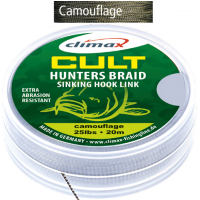 Fir Textil Climax Cult Hunters Braid Sinking Hook Link, Camouflage, 20m