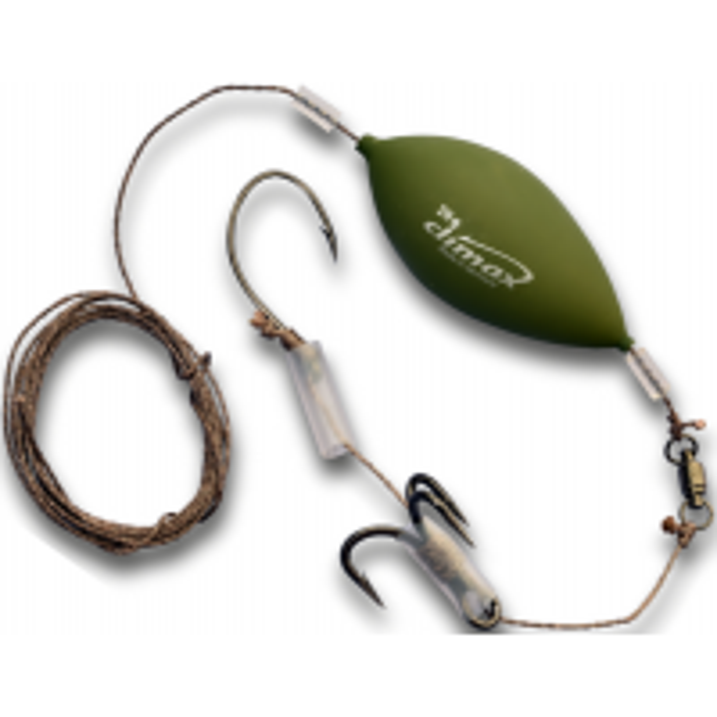 Montura pentru Somn Climax Cult Catfish Lobworm RIG, 1 x Carlige Nr. 7/0, 1 x Ancora Nr. 2/0, 0.92mm/80kg, 180cm