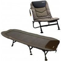 Pat + Scaun Prologic Commander T-Lite Chair & Bed Combo, 6 Picioare
