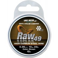 Fir Struna Savage Gear RAW 49, Uncoated Brown, 10m