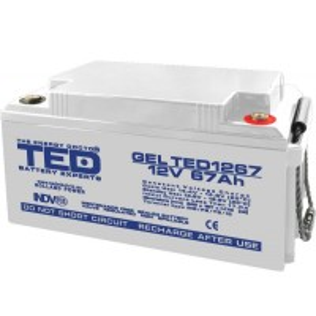 Acumulator Ted GEL VRLA M6 Electric, 12V 67Ah
