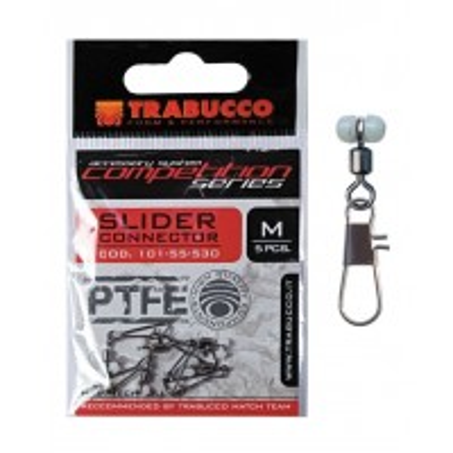 Agrafa Culisanta PTFE Trabucco Slider Conector, 5buc/plic