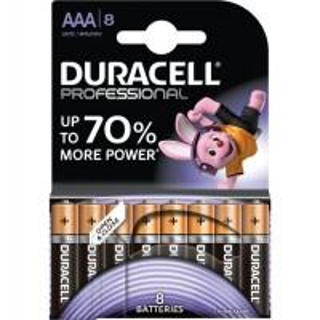 Baterie Alcalina Duracell Professional LR3 (AAA), 8buc/blister