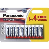 Baterie Alcalina Panasonic Everyday Power AA (LR6) 1.5V, 10buc/blister