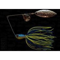 Bertilure Spinnerbait Colorado Nr.2 Salcie Nr.2 14g Skirt Siliconic Blue - Chartreuse