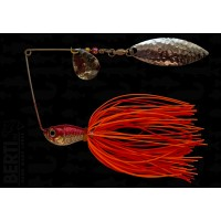Bertilure Spinnerbait Colorado Nr.2 Salcie Nr.2 14g Skirt Siliconic Orange - Rosu