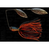 Bertilure Spinnerbait Salcie Nr.2 Salcie Nr.3 14g Skirt Siliconic Orange - Negru