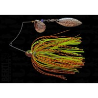 Bertilure Spinnerbait Shallow Killer Colorado-Salcie 7g Skirt Siliconic Orange/Negru - Chartreuse