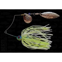 Bertilure Spinnerbait Shallow Killer Colorado-Salcie 7g Skirt Siliconic White - Chartreuse