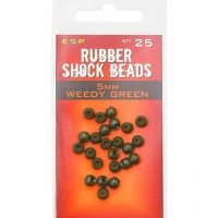 Bilute Antisoc ESP Rubber Shock Beads, Weedy Green, 25buc/plic