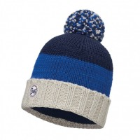 Caciula Buff Knitted & Polar Berna Dark Navy
