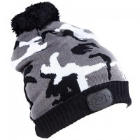 Caciula RidgeMonkey Camo Bobble Hat Black